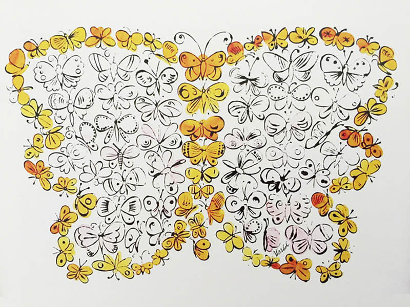 Butterflies warhol Pop art Coloring pages for adults