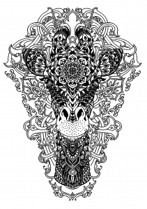 Coloring Page Head Of A Giraffe