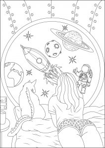 coloring-girl-dream-space-travel