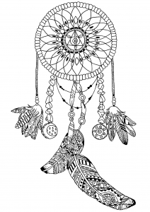 coloring-page-dream-catcher-by-pauline