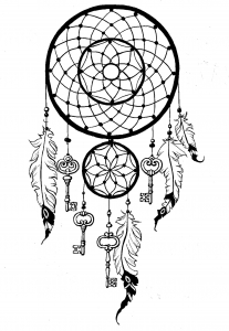 coloring-page-dreamcatcher-keys