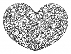 coloring-page-love-heart-with-flowers