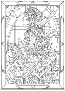 Art Nouveau Coloring Pages Www Bilderbeste Com