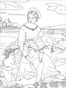coloring-Raphael-Madonna-of-the-Meadow