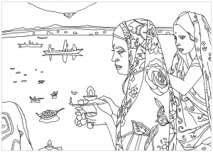 Taj mahal difficult India Bollywood Coloring pages for