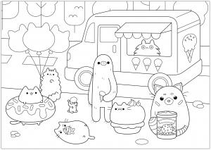 Ice Cream Shop Pusheen