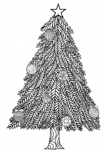 coloring-adult-christmas-tree-with-ball-ornaments-by-bimdeedee