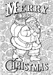 coloring-santa-claus-with-text-and-background