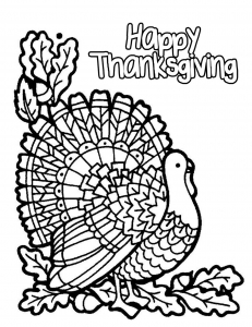 Coloring Adult Halloween Simple Turkey
