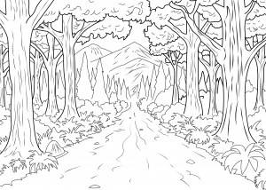 coloring-page-adults-forest-celine