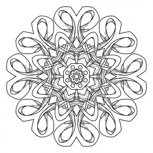 Mandala. Abstract decorative background. Islam, Arabic, oriental, indian, ottoman, yoga motifs.