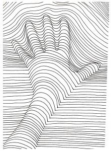 coloring op art illusion optique main