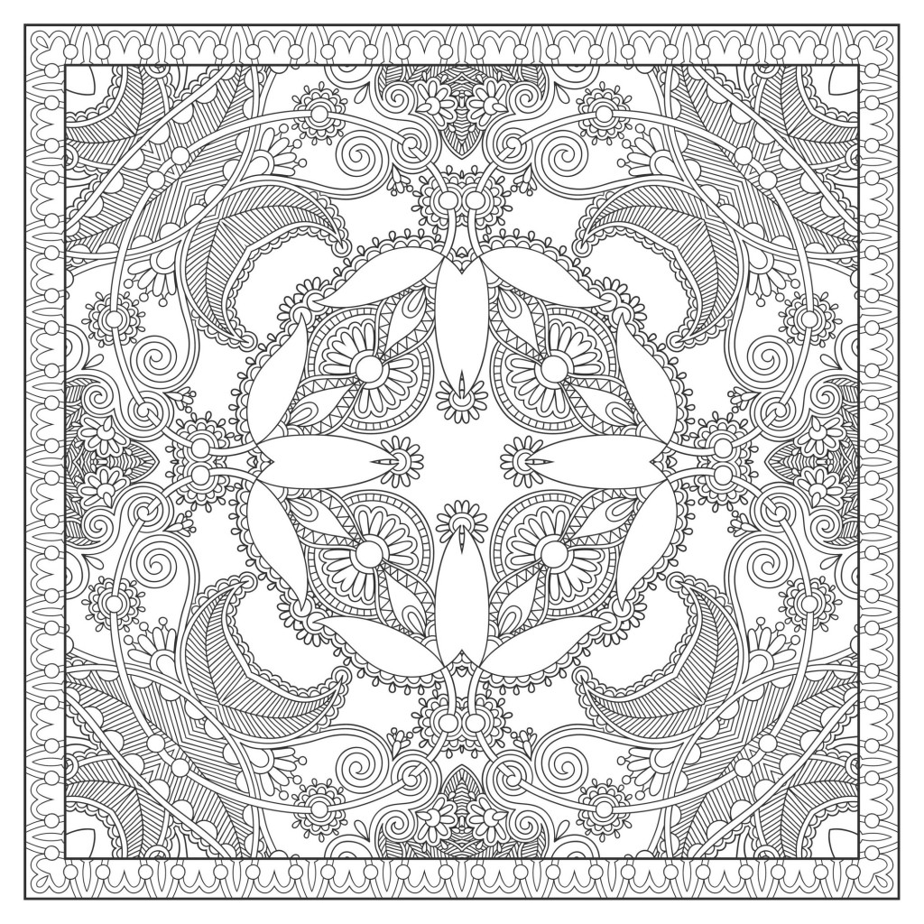 square mandala coloring pages - photo#29