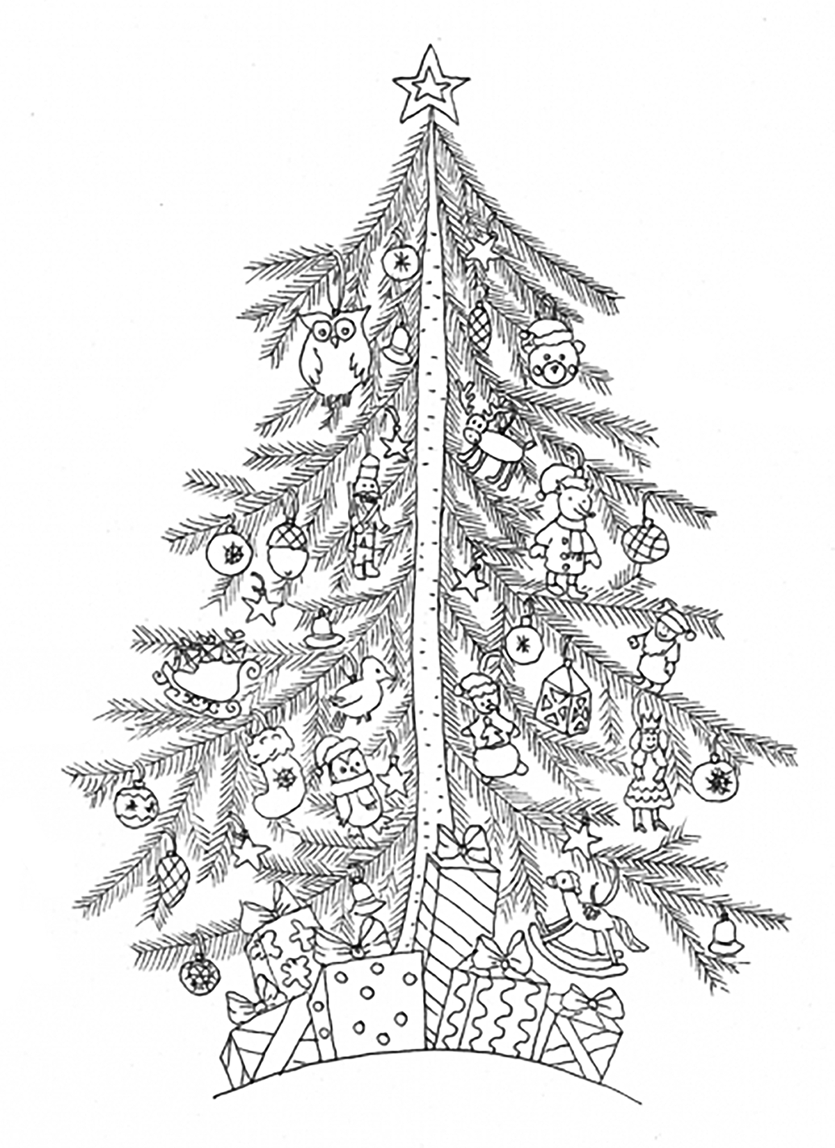 2016 Christmas Advent calendar - Coloring pages for adults ...
