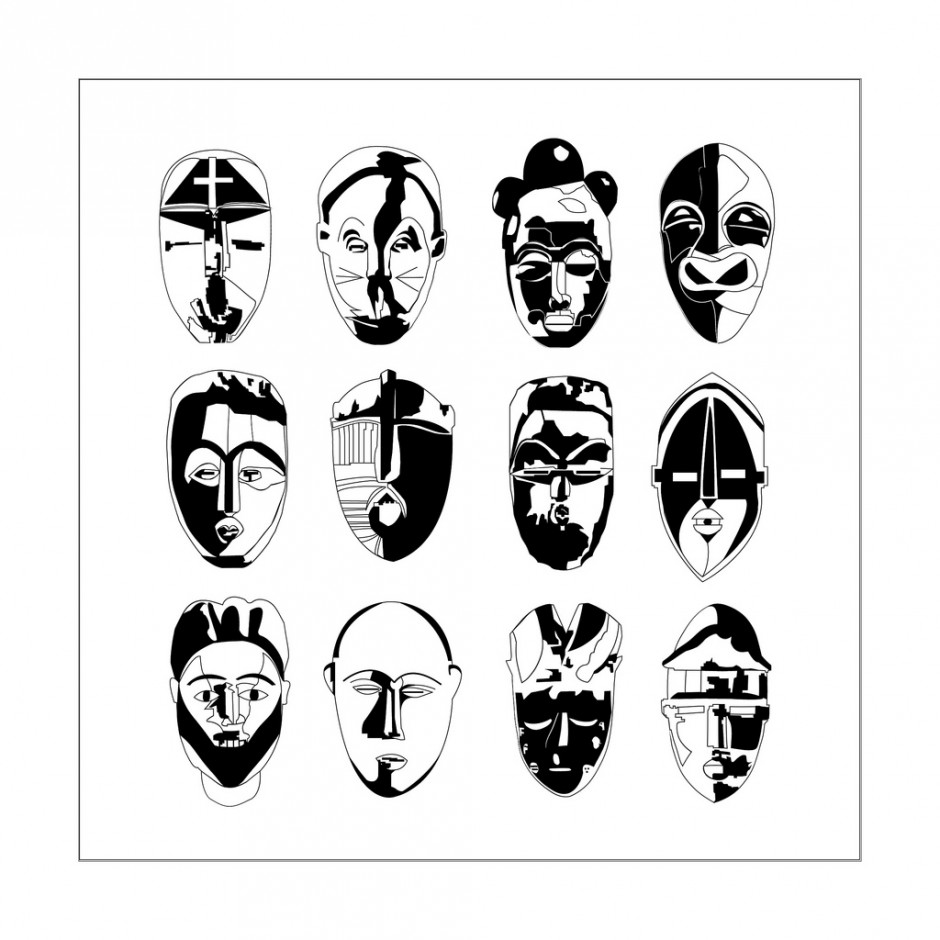 Clip Art African Masks Coloring Pages african masks coloring pages futpal com africa for adults adult 9 masks
