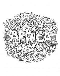 coloring-adult-africa-abstract-symbols free to print