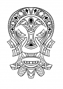 coloring-adult-african-mask-4 free to print