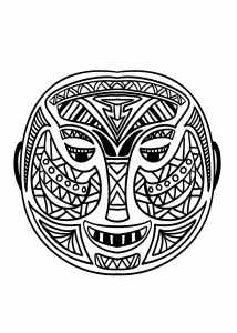 coloring-adult-african-mask-5 free to print