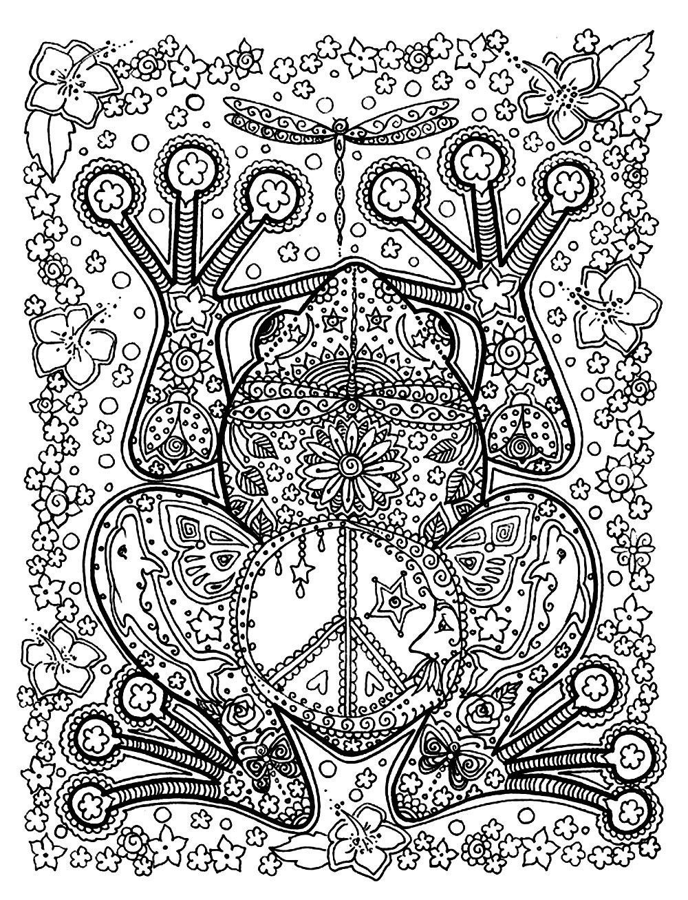 Animals coloring pages for adults coloring adult Giant coloring books for adults