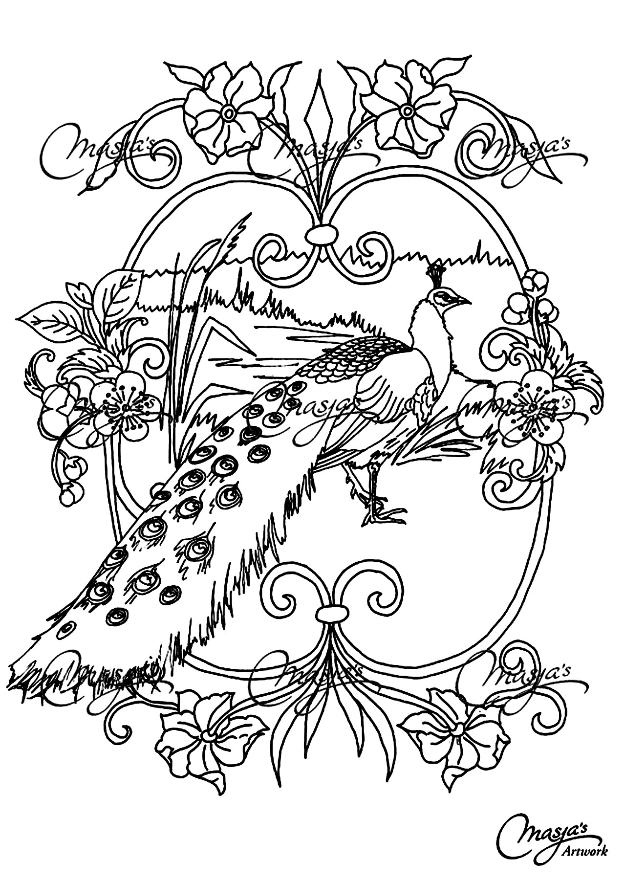 Animals - Coloring pages for adults : coloring-adult ...