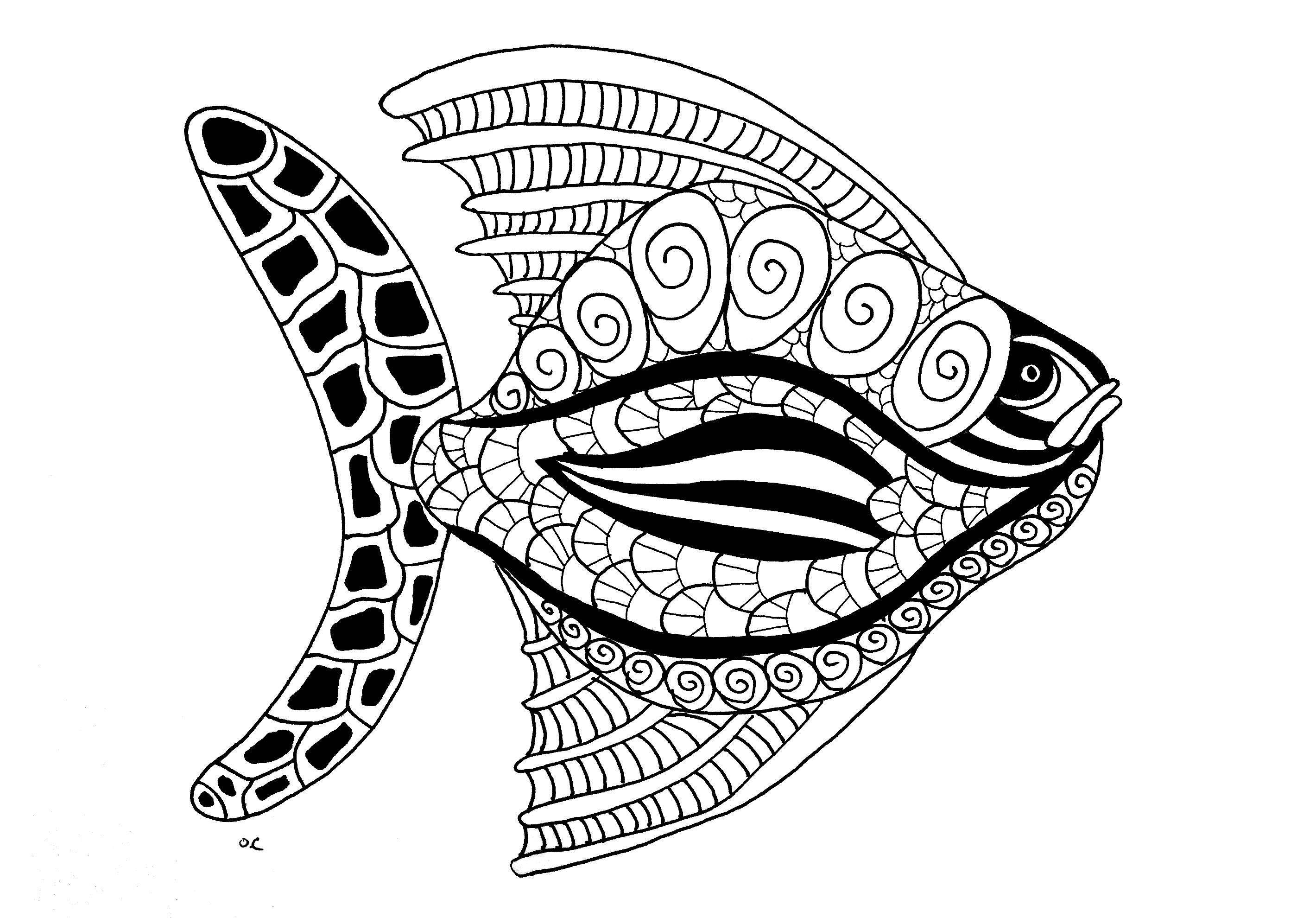 Animals Coloring Pages For Adults Coloring Fish
