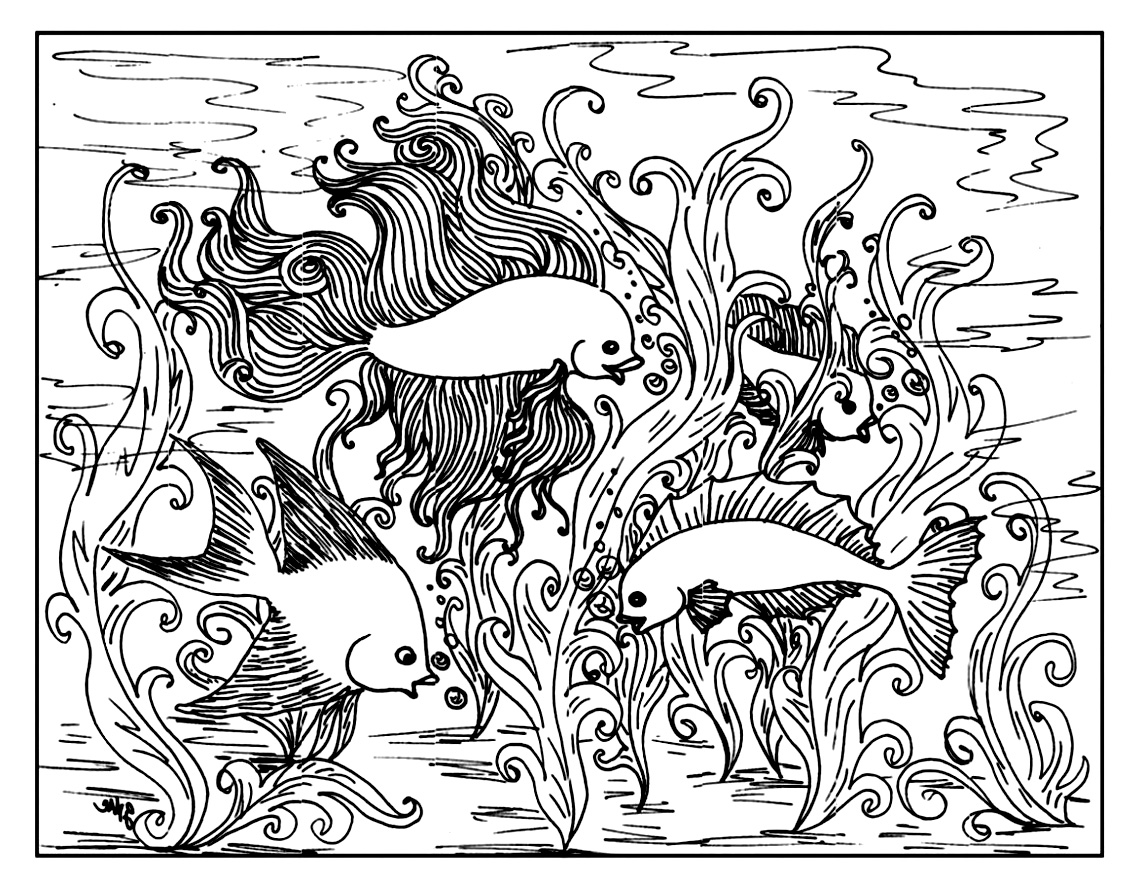 animals coloring pages for s 3 - Aquarium Coloring Pages Printable