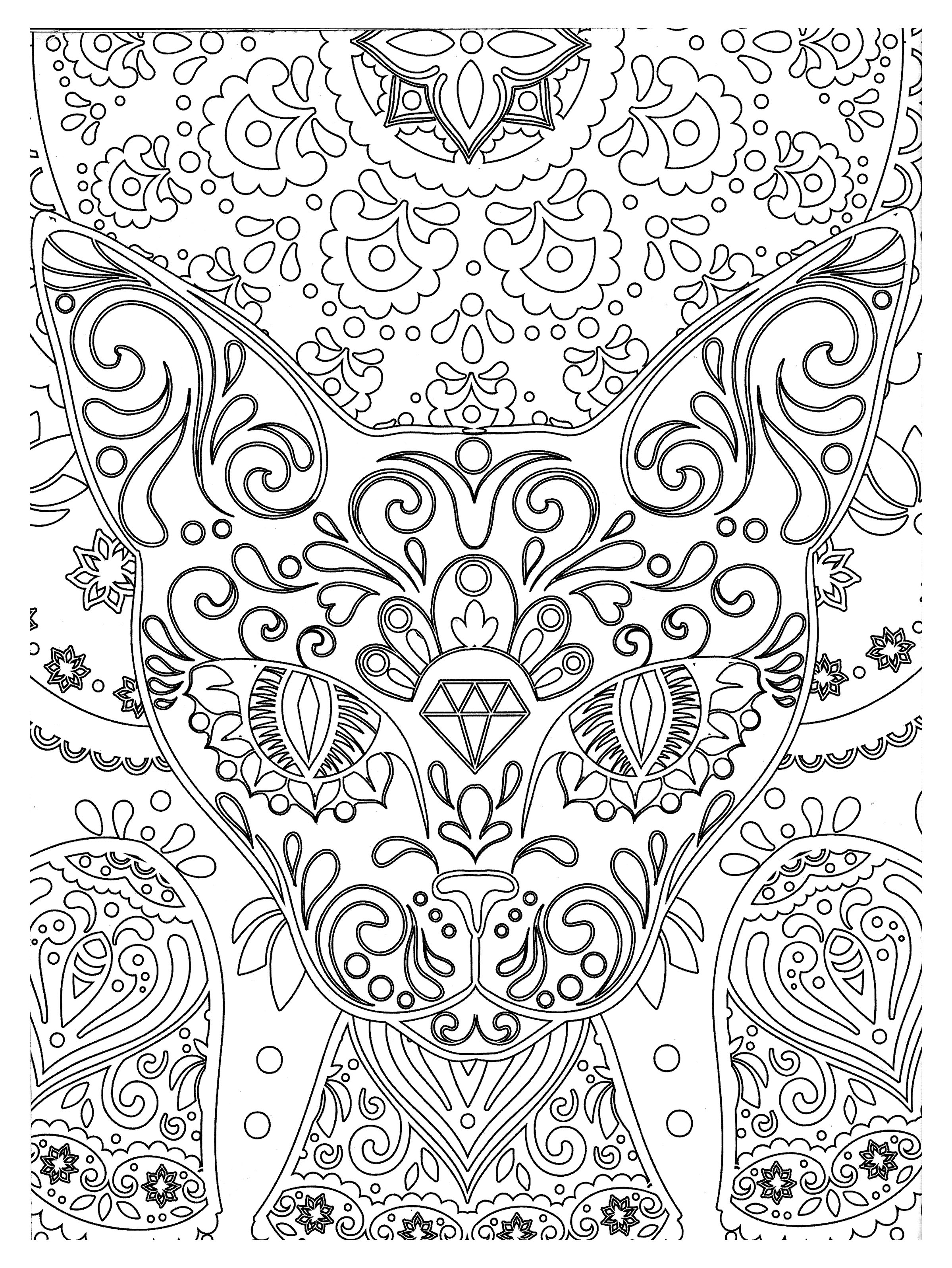 Animals - Coloring pages for adults : coloring-zen ...