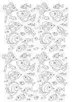 coloring-100-fish free to print