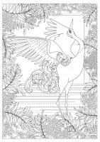 coloring-adult-majestic-crane-by-kching free to print