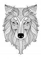 coloring-incredible-wolf-by-bimdeedee free to print