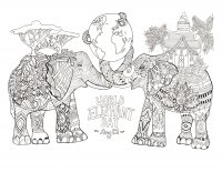 coloring-page-world-elephant-day free to print