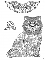 coloring-pages-adults-be-relaxing-as-a-cat-by-elena-besedina free to print