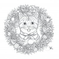 coloring-pages-adults-cat-mandala-kchung free to print