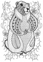 coloring-pages-adults-marmot-by-ipanki free to print