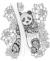 coloring-pages-adults-panda-by-alfadanz free to print