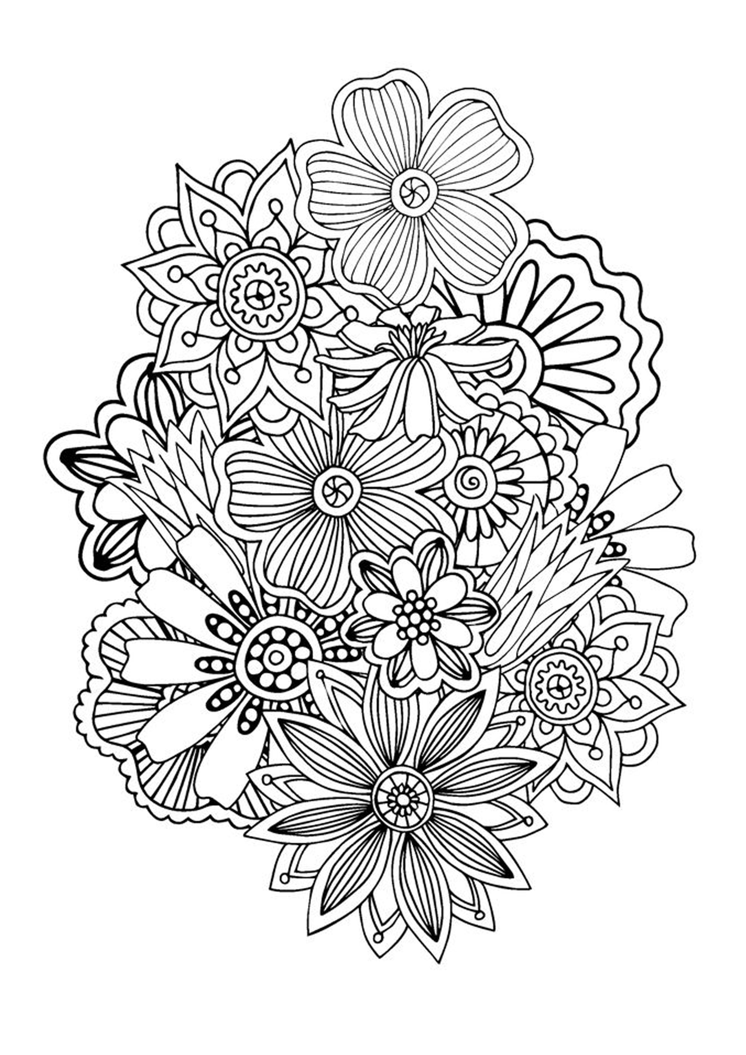 Zen And Anti Stress Coloring Pages For Adults Coloring Coloring Pages Zen