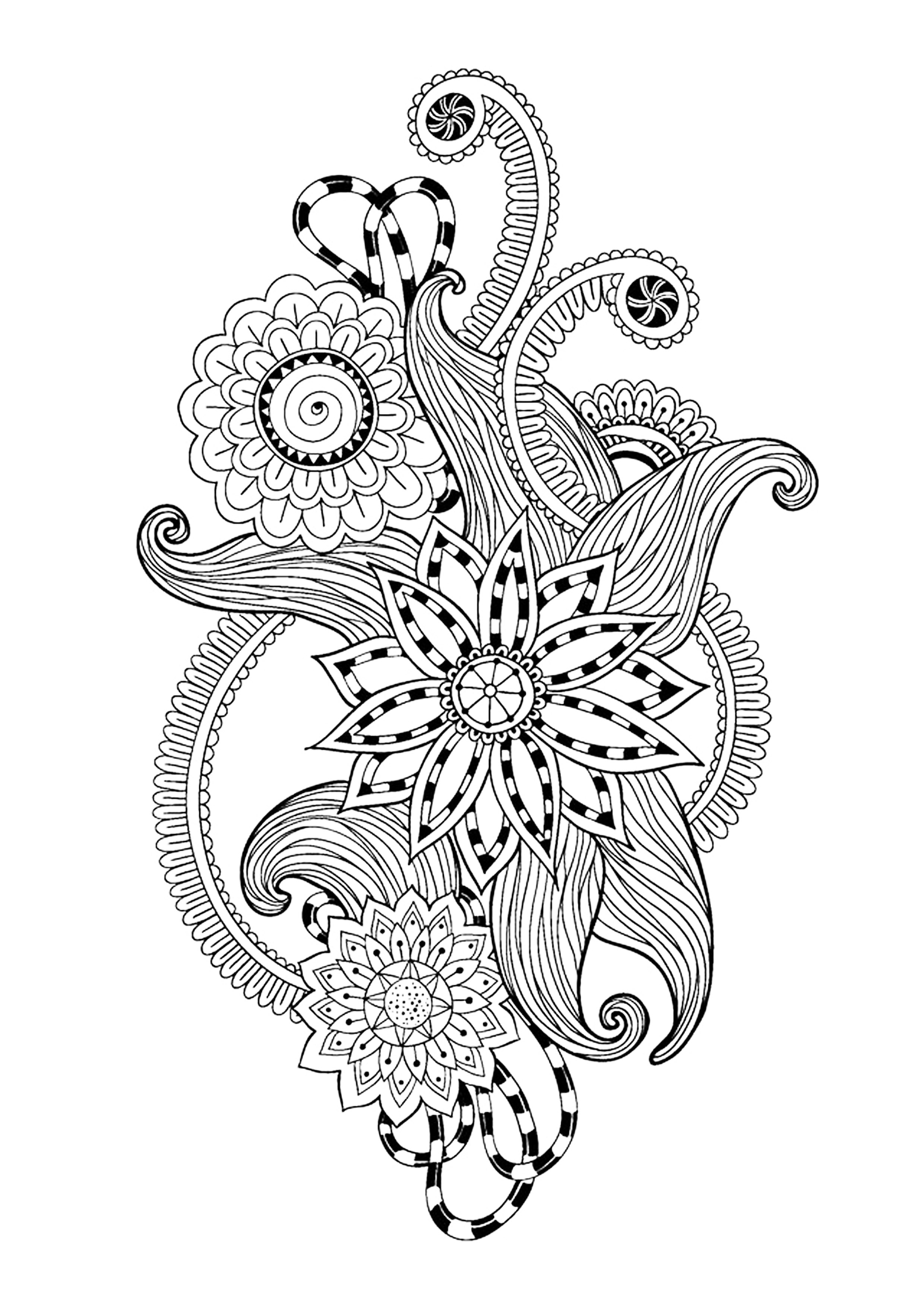 Zen And Anti Stress Coloring Pages For Adults Coloring zen