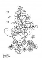 coloring-adult-flowers-girl-1 free to print