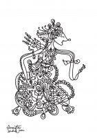 coloring-adult-javanese-doll-1 free to print