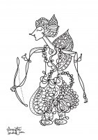coloring-adult-javanese-doll-3 free to print