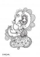 coloring-adult-javanese-doll-4 free to print