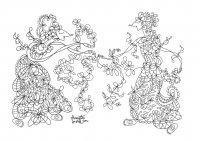 coloring-adult-javanese-doll-5 free to print
