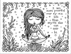 coloring-adult-positive-thought free to print