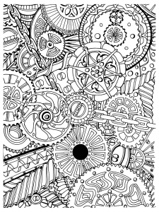 coloring-adult-zen-anti-stress-mechanisms-to-print free to print