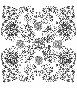 coloring-anti-stress-flowers free to print