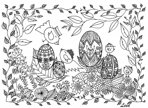 coloring-easter-eggs-by-leen-margot free to print