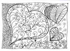 coloring-heart-zen free to print