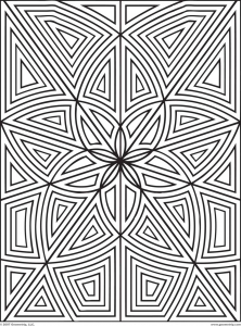 coloring-maze-zen-flowers free to print