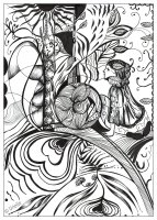 coloring-page-adult-reflection-of-love-urielle free to print