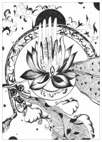 coloring-page-adult-urielle-peace-and-serenity free to print